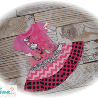 Dr. Seuss Cat in the Hat Upcycled Girls T-shirt Dress size 24 months