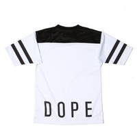 Dope - White Football Jersey - Dope, T-Shirts - KNYEW Clothing Boutique