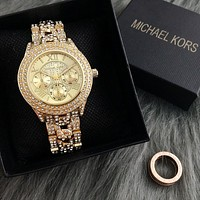 Mike coles is selling fashionable women's luxury diamond gold watch.