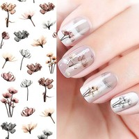Pure Fresh Flower Self-Adhesive Nail Decals
