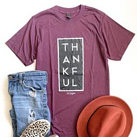 Thankful Tee - Cranberry