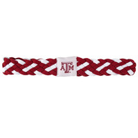 Texas A&M Aggies NCAA Braided Head Band 6 Braid