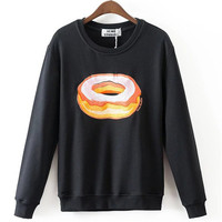 New Arrival Women Top Winter Hoodies Fruit Banana Donut Print Full Sleeve Fashion Style Casual Embroidery Sweatshirts 71947 GS