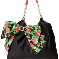 Betsey Johnson Bow Licious Tote,Black,One Size