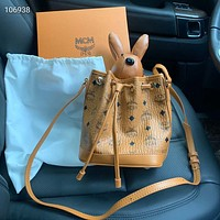 MCM Visetos Rabbit Drawstring Bag MCM Bucket bag shoulder bag