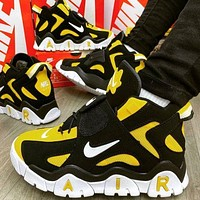 Nike Air Barrage Mid Hot Selling Platform Couple Sneakers Shoes Yellow