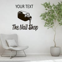 Custom Nail Shop Decal, Beauty Salon Decor, Nail Shop Quote, Salon Advertisement Decal, Make Appointment Decal, Salon Window Decal nm036