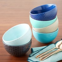 Textured Bowl Set