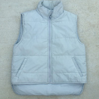 Stormy Night Gray Puffer Vest