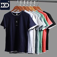 New Summer Blue Black Green Color Shirt For Men 100% Cotton Mens Shirts Men Shirts