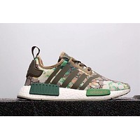 GUCCI x Adidas NMD Fashion Trending Casual Print Running Sports Shoes Green G