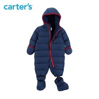 Carter's seamless overalls for boys blue red hooded snow wear baby boys snowsuit warm down parkas baby winter clothes CL218K63