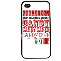 Christmas Candy Case / Elf iPhone 4 Case Holiday iPhone 5 Case iPhone 4S Case iPhone 5S Case Buddy Candy Canes Movie Phone Case