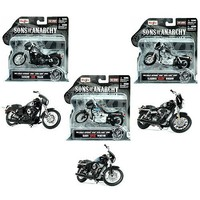 Sons of Anarchy Scale Die-Cast Harley Davidson Motorcycles Choppers [Set of 3]