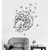 Vinyl Wall Decal Dandelion Abstract Lion Flower Floral Art Stickers Unique Gift (ig3372)
