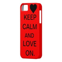 Keep Calm and Love On Case iPhone 5 Cases from Zazzle.com
