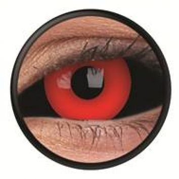 ColourVue Black Red Scleral Full Eye Coloured Contacts (Gremlin)