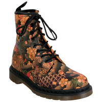 Dr. Martens 1460 W Tattoo Sleeve Tan Ankle Boot