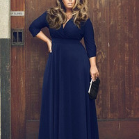 Long Sleeve Prom Dress Plus Size [7571758022]