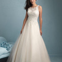 Allure Bridals 9200 Lace A-Line Wedding Dress