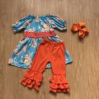 Floral tunic set with headbow