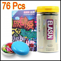 48 pcs 8 Types ELASUN Ultra Thin Condoms Ice and Fire Dotted Pleasure for her Natural Latex Rubber Condoms For men