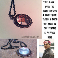 Jensen Ackles Flower Crown Cameo Necklace by KeepingItUglier