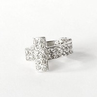 BKE Glitz Cross Ring - Women's Accessories | Buckle