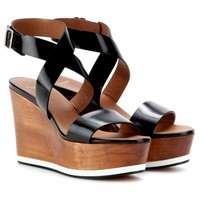 LILOO LEATHER WEDGE SANDALS