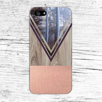 Rose Gold Forest x Maroon Chevron Wood Design Case for iPhone 6 6 Plus iPhone 5 5s 5c 4 4s Samsung Galaxy s6 s5 s4 & s3 and Note 5 4 3 2