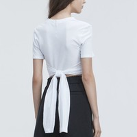 Alexander Wang HIGH TWIST CROPPED TEE TOP | Official Site