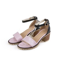 Ankle Straps Chunky Heel Pumps High Heels Sandals 1578