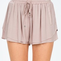 Tiered Gauze Slouchy Short