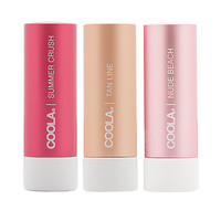 COOLA Beauty and the Beach Tinted Mineral Liplux Trio in Summer Crush, Tan Line & Nude Beach