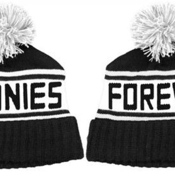 Goonies Forever Black and White Beanie Hat