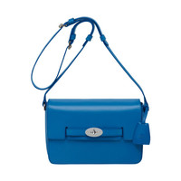 Bayswater Shoulder in Bluebell Blue Glossy Calf | What's New | Mulberry