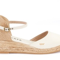 Canet Canvas Espadrille Wedges - Ivory