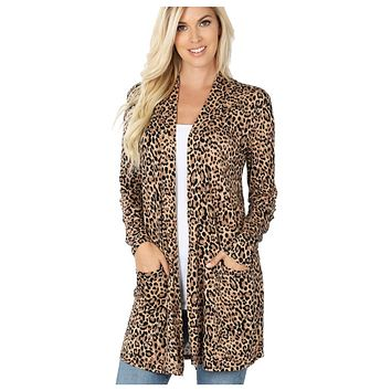 Sassy Me! Leopard Cardigan with Pockets