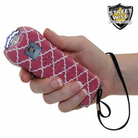 Streetwise Ladies' Choice 21 Million Volt Pink Pattern Stun Gun + Flashlight w/ Alarm
