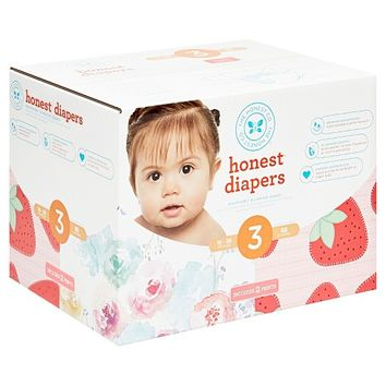 Honest Company Rose Blossom/Strawberries Club Pack 68ct Disposable Diapers Size 3