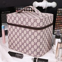 GUCCI  BURBERRY  LV Cosmetic bag large capacity portable double simple storage bag cosmetic storage box