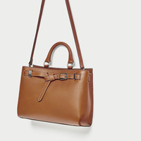 LEATHER CITY BAG WITH KNOTTED DETAILDETAILS