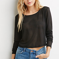 Shadow-Striped Top