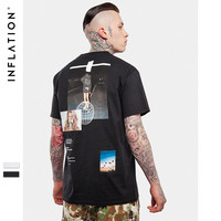 INFLATION Streetwear Shop Short Sleeve Tee For  Men