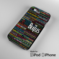the beatles typography song lyric iPhone 4S 5S 5C 6 6Plus, iPod 4 5, LG G2 G3, Sony Z2 Case