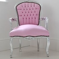Leatherette Bedroom Chair
