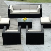 Ohana Outdoor Patio Wicker Furniture 8pcs All Weather Couch sofa Set