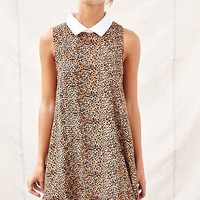 One & Only X Urban Renewal Collared Swing Dress- Brown