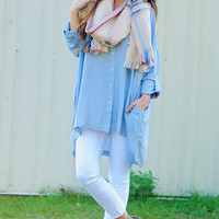 Sweet On You Tunic: Pale Blue