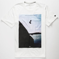 Imperial Motion Cliff Jump Mens T-Shirt White  In Sizes